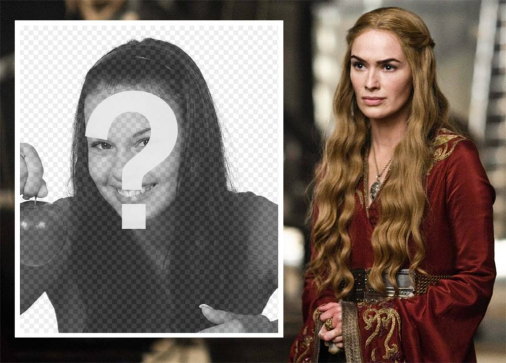 Téléchargez votre photo pour être avec effet de la Reine Cersei de Cersei Lannister Frion le jeu de la série Thrones pour modifier Télécharger les photos si vous aimez ce personnage, et vous pouvez le faire gratuitement