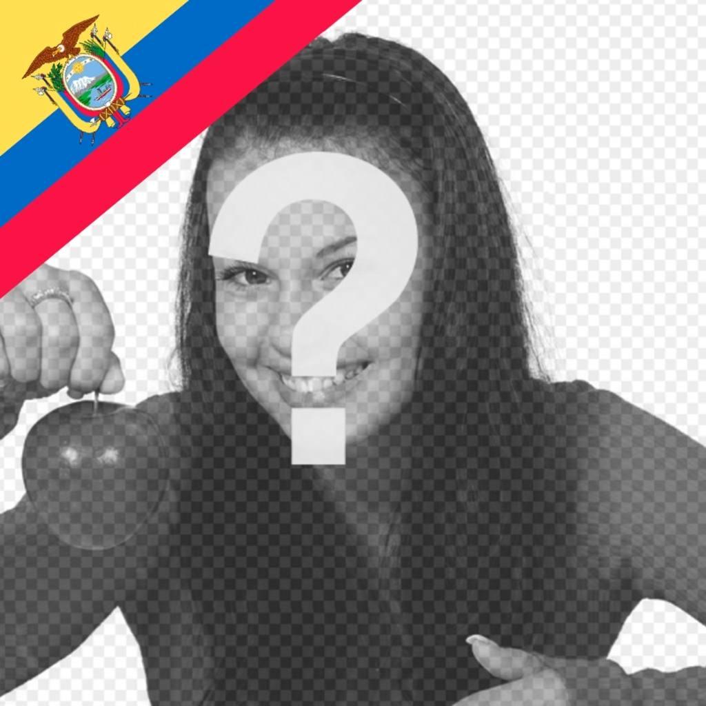 Décorez vos photos avec le drapeau de lEquateur sur un effet éditable coin