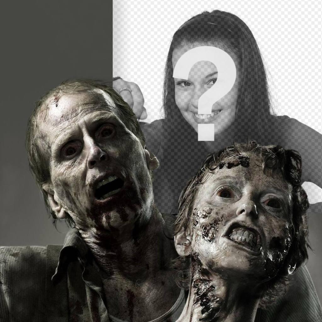 Photomontage de terreur avec des zombies avec votre photo