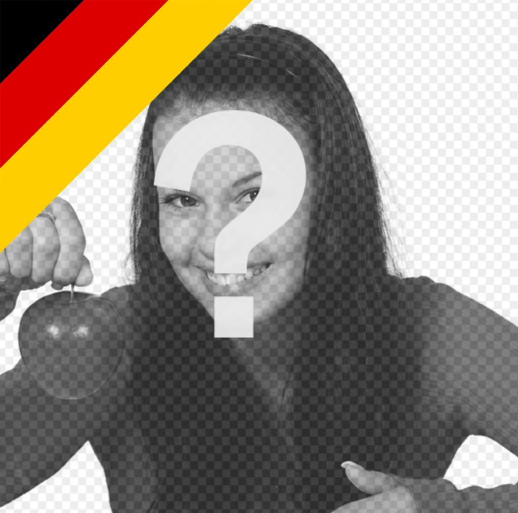 Mettre le drapeau de lAllemagne dans le coin de votre effet images