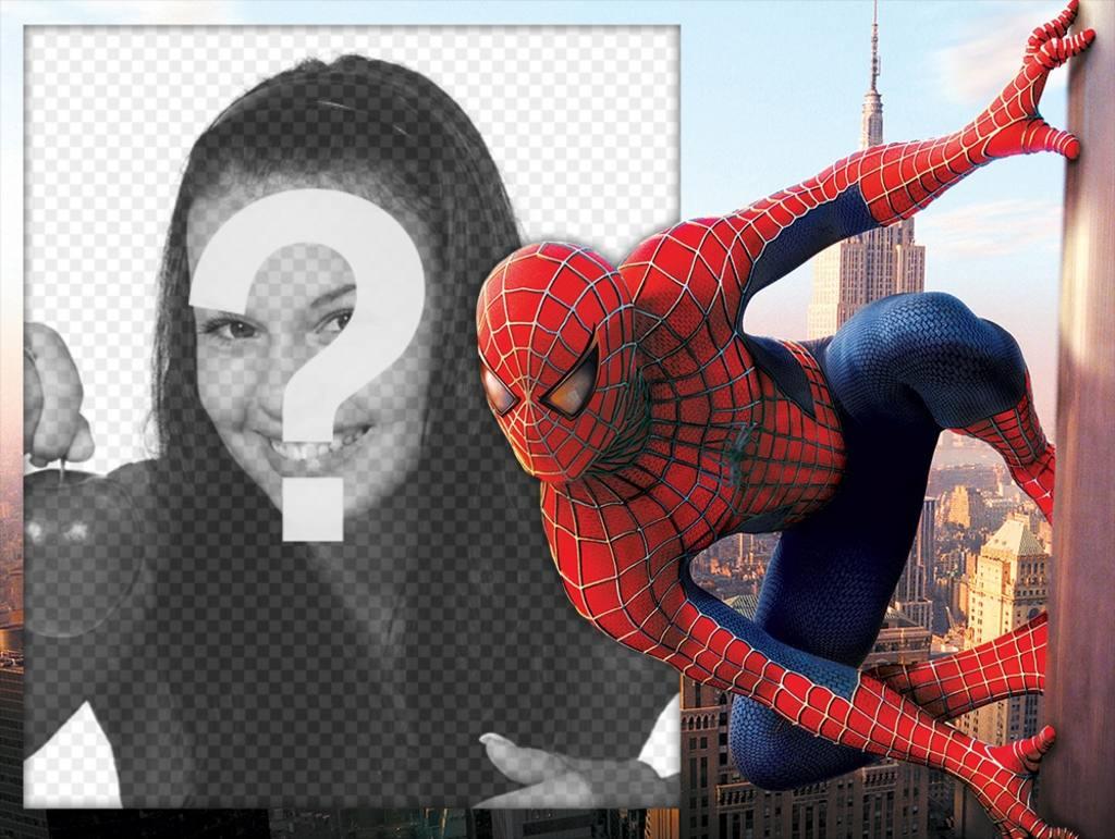 Effet Spiderman Photo pour modifier avec votre photo