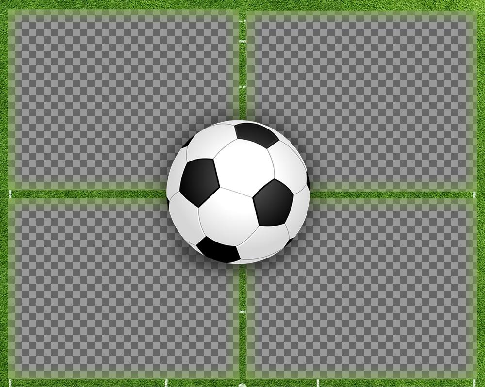 Collage pour quatre images parfaites pour les amateurs de football