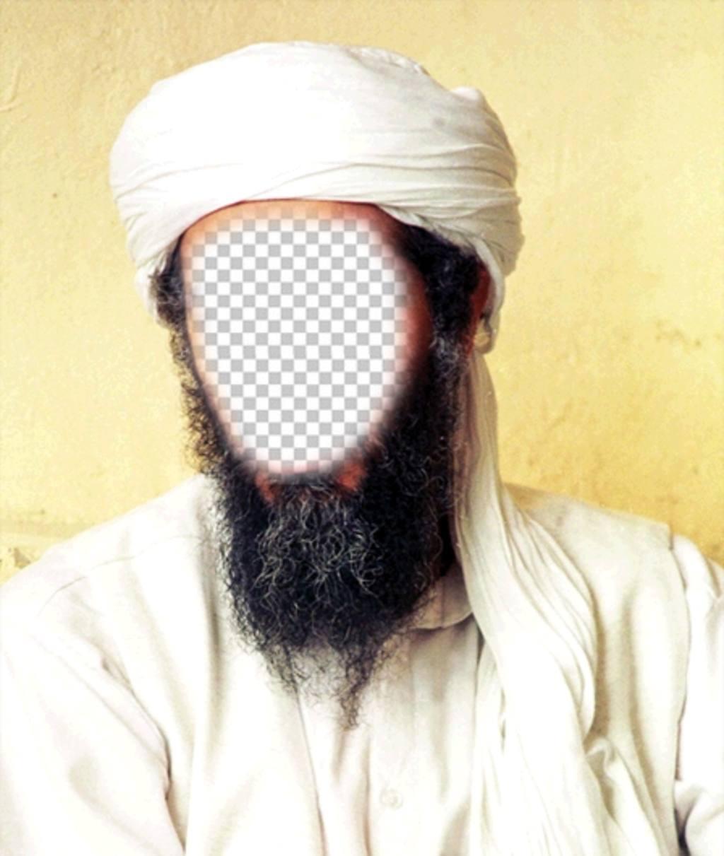 Photomontage dOussama Ben Laden pour mettre votre visage sur son visage