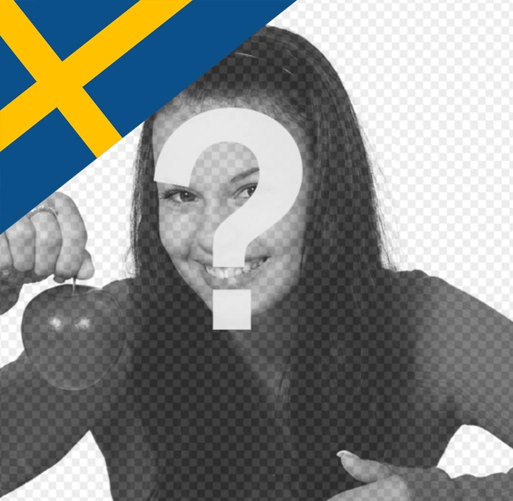 Effet photo pour mettre le drapeau de la Suède dans le coin de votre photo
