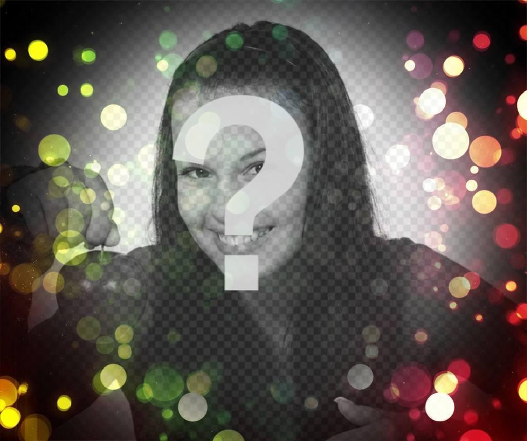 Filtre de lumières colorées à ajouter à vos photos