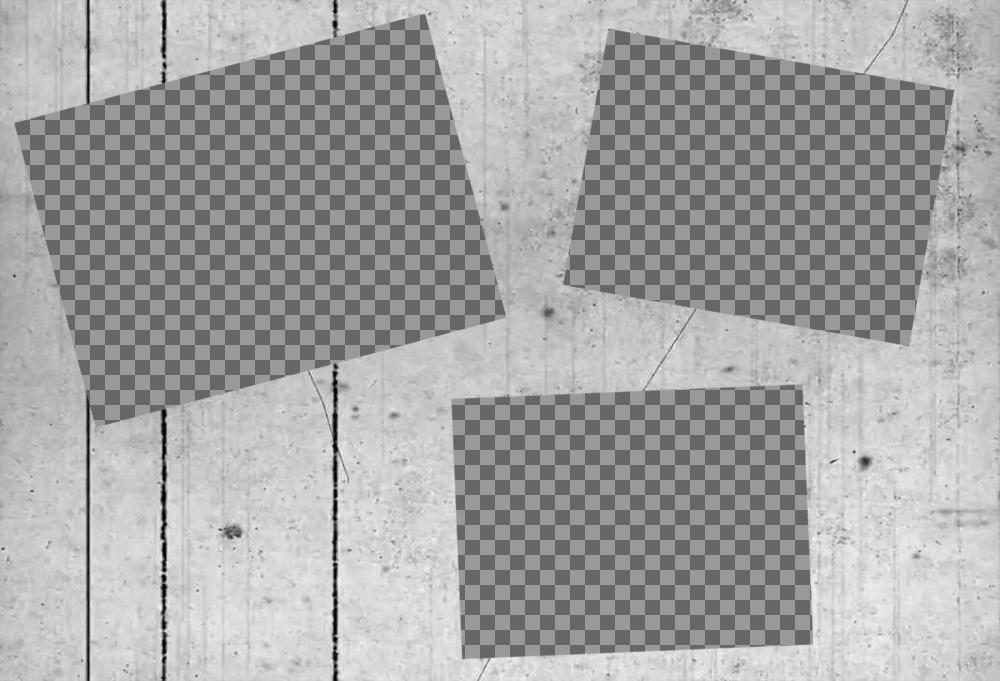 Collage Vintage pour trois photos avec noir et blanc filtre