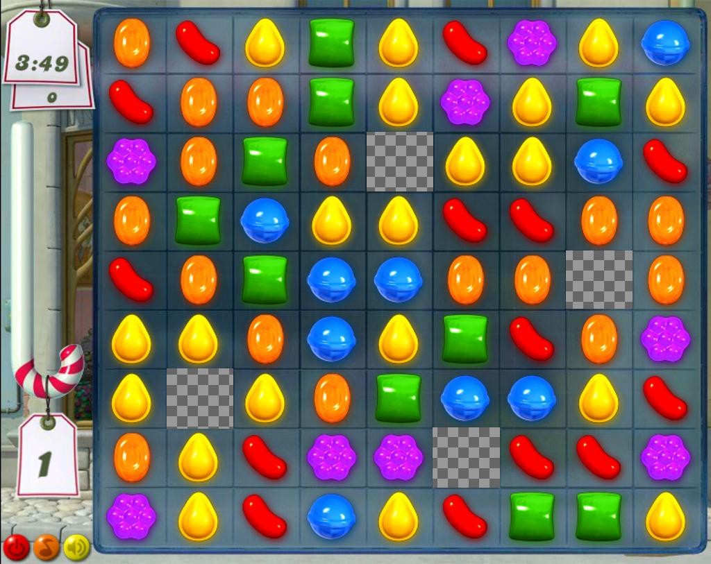 Drôle collage pour ajouter quatre photos dans le jeu Candy Crush