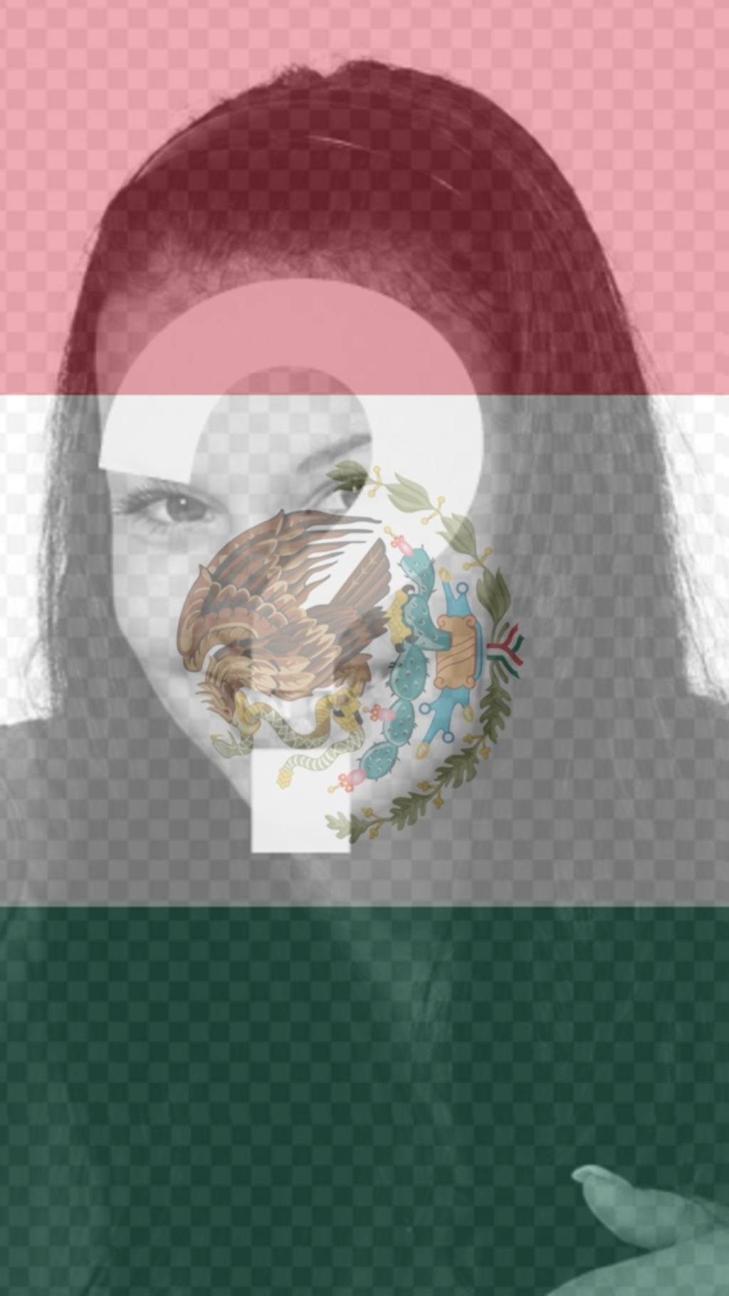Fond pour votre téléphone portable avec le drapeau du Mexique comme un filtre avec votre photo