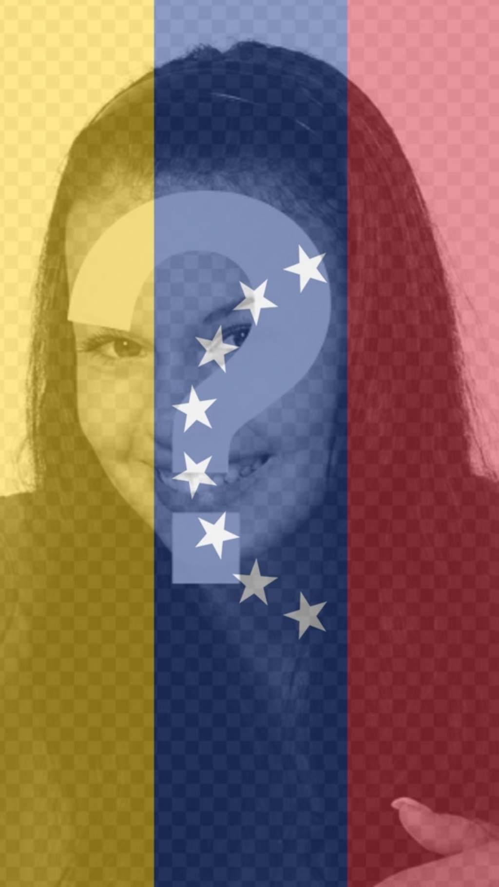 Effet photo avec le drapeau du Venezuela pour mettre comme fond sur votre