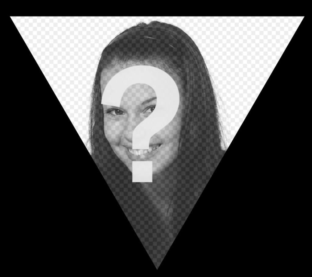 cadre noir en forme de triangle pour ajouter votre photo pour photoeffets. Black Bedroom Furniture Sets. Home Design Ideas