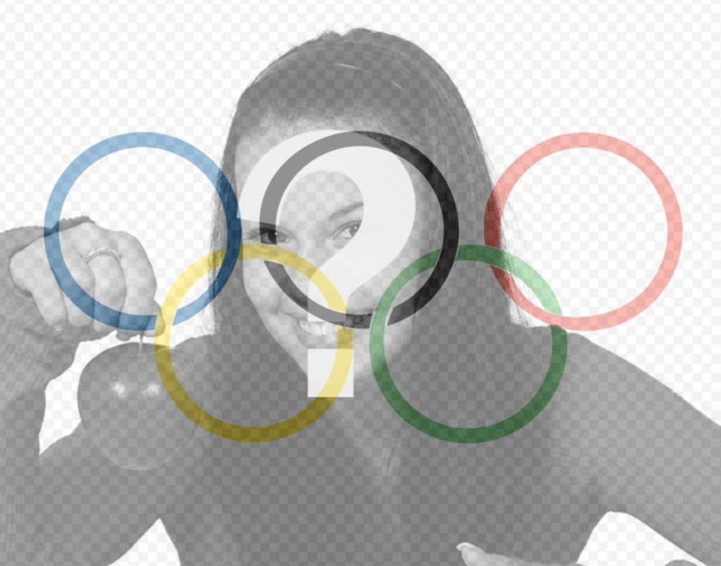 drapeau avec le symbole des jeux olympiques comme un filtre pour mettre