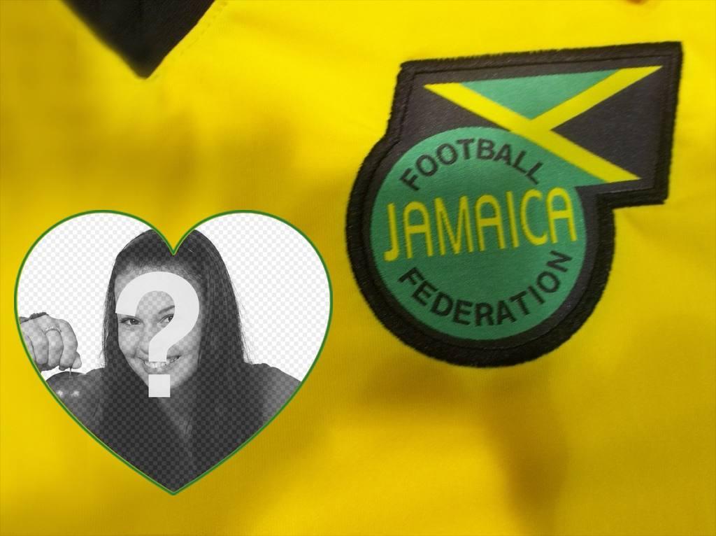 Effet photo avec le maillot de football et le bouclier de la Jamaïque pour modifier