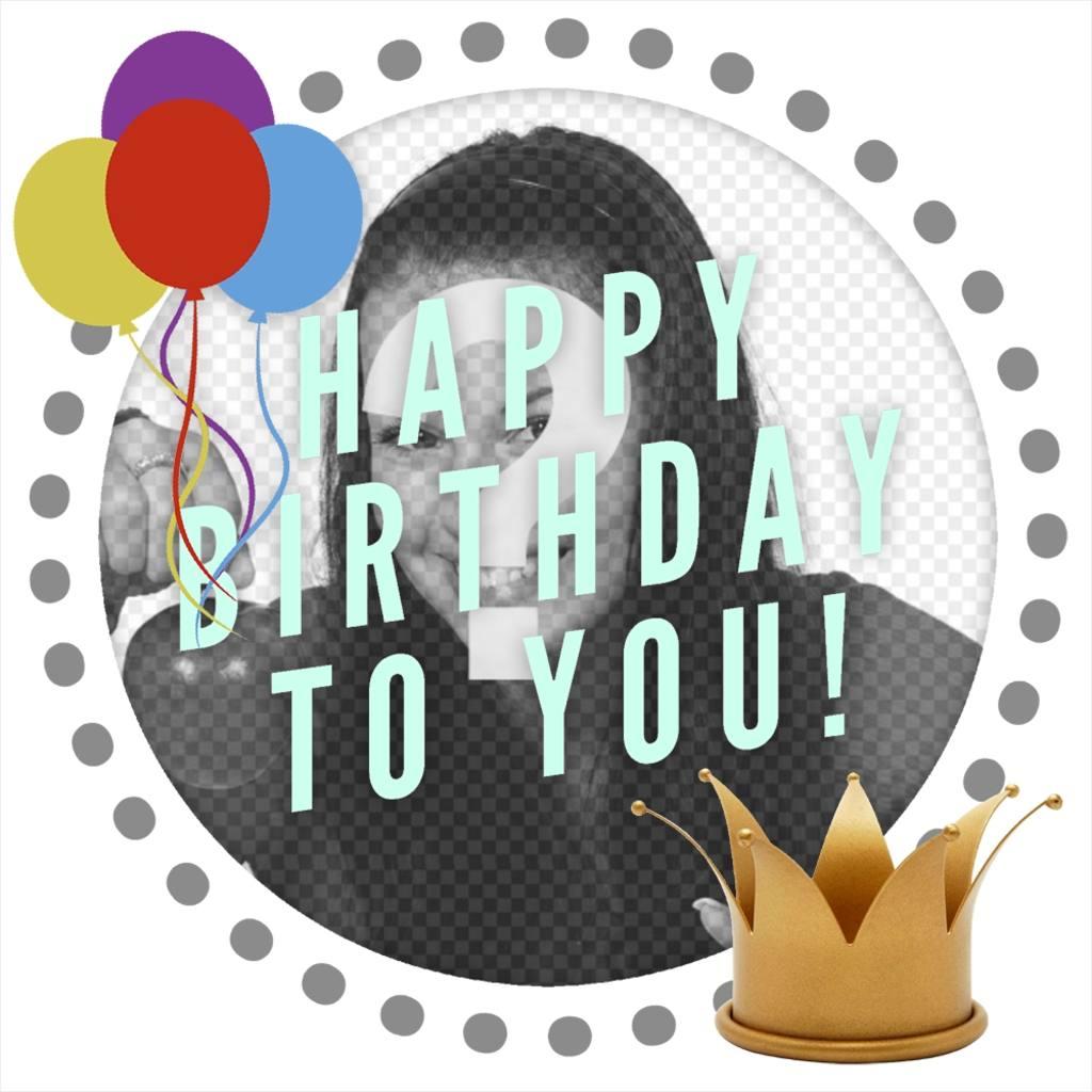 Cadre éditable pour fêter un anniversaire décorer votre photo de profil