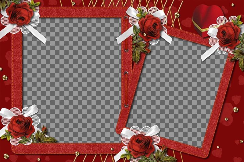 cadre photo avec des roses faire ce photomontage gratuit et facilement photoeffets. Black Bedroom Furniture Sets. Home Design Ideas