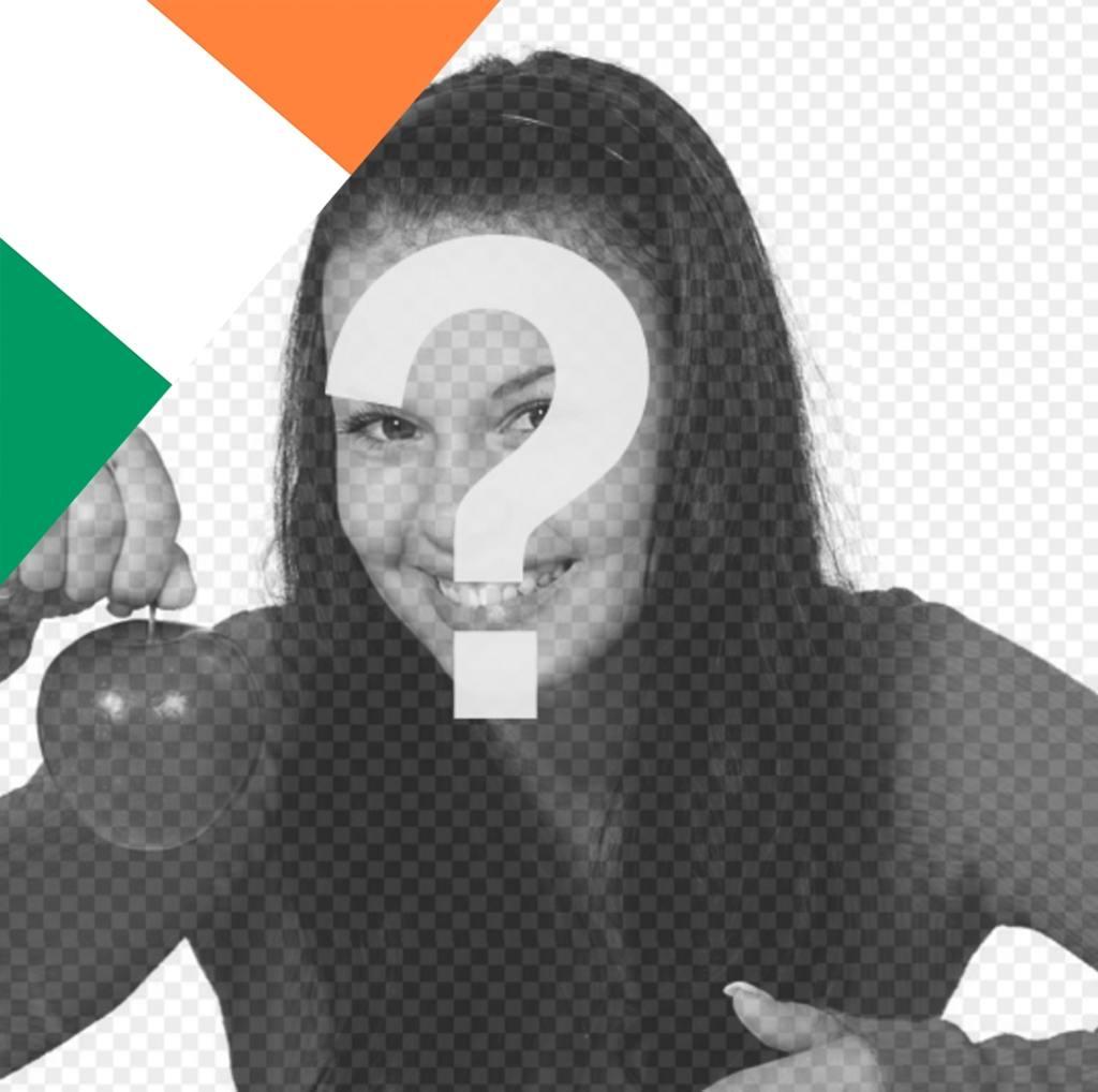 Effet de mettre le drapeau de lIrlande sur vos photos et décorer