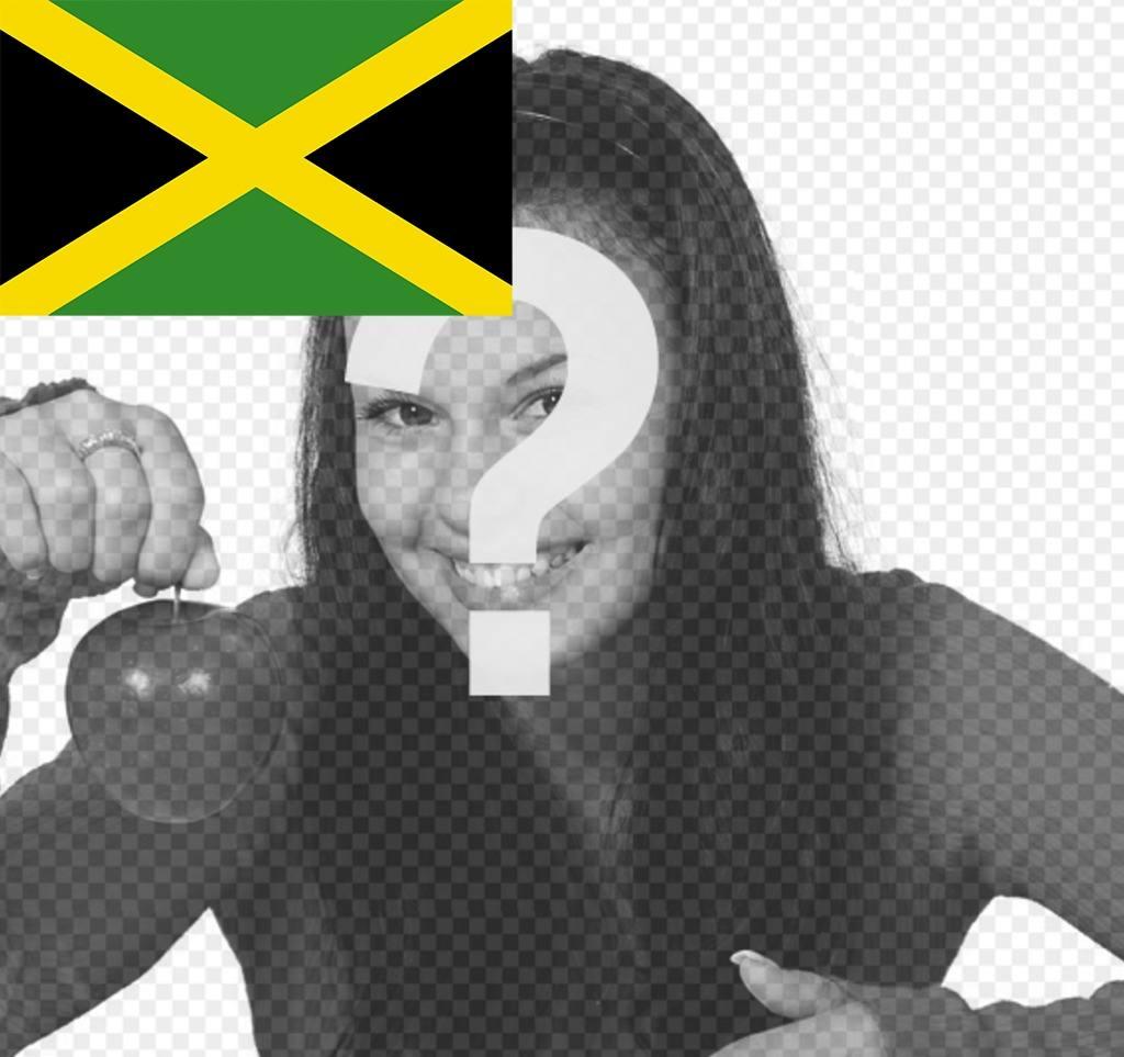 Drapeau de la Jamaïque à mettre dans un coin de vos photos pour