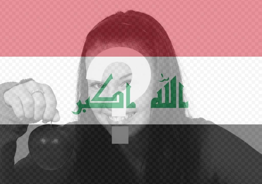 Filtre gratuit pour votre photo avec le drapeau de lIrak