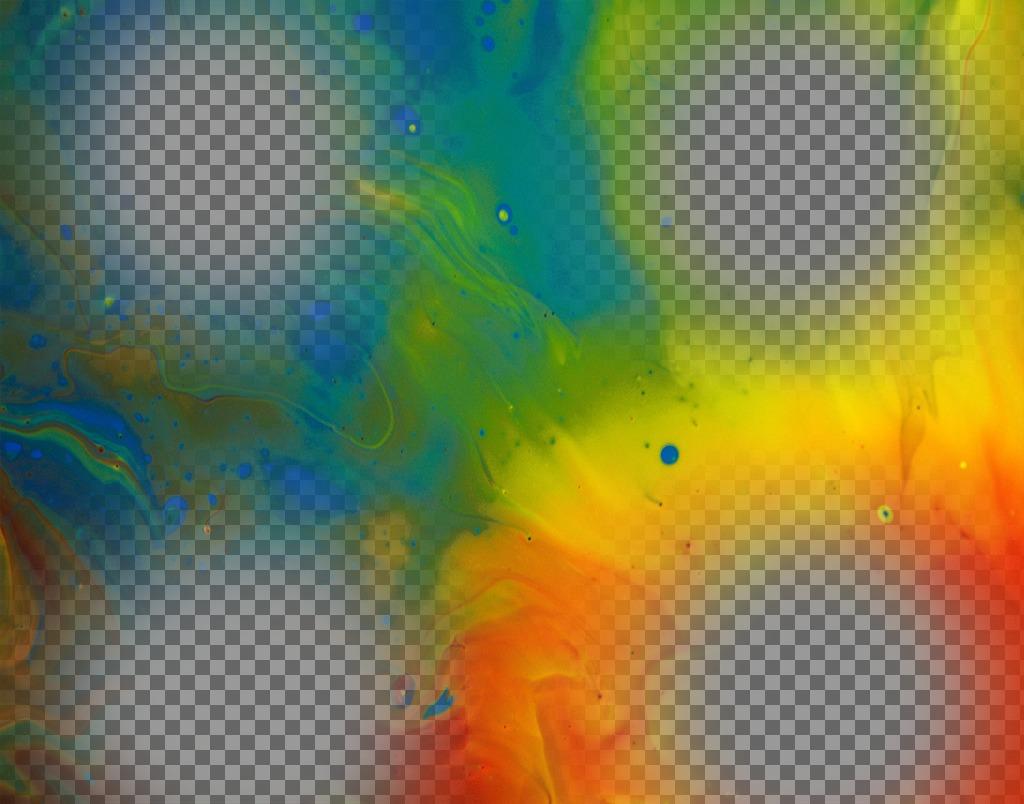 Collage avec de la peinture où vous pouvez télécharger quatre photos et leur donner une touche artistique