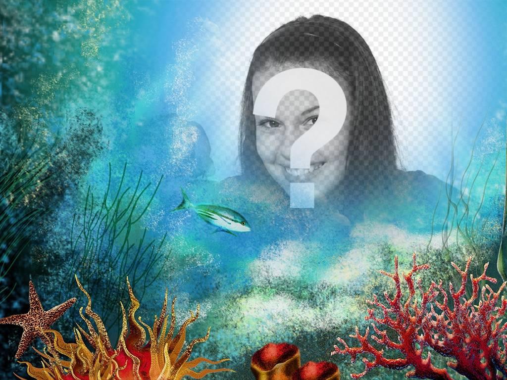 Faites un voyage à la mer profonde en téléchargeant votre photo à cet effet en ligne