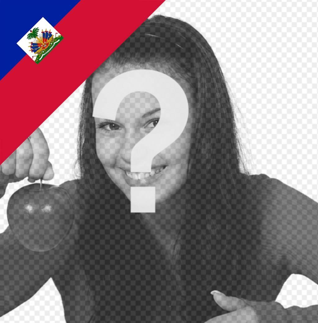 Mettez dans le coin de vos photos le drapeau dHaïti avec cet effet en ligne
