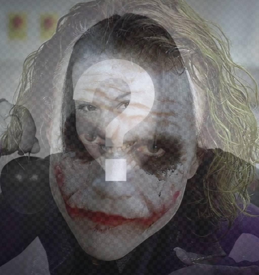 Filtre à mettre le visage du Joker sur votre image en ligne Effet