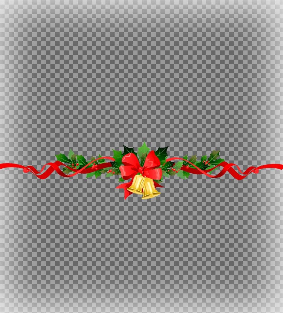 Mettez deux photos ensemble avec une guirlande de Noël décoratif avec cet effet