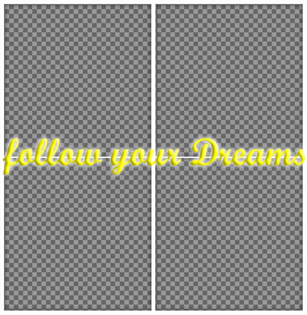 Collage de photos avec la phrase SUIVEZ VOS RÊVES télécharger 4 de vos photos