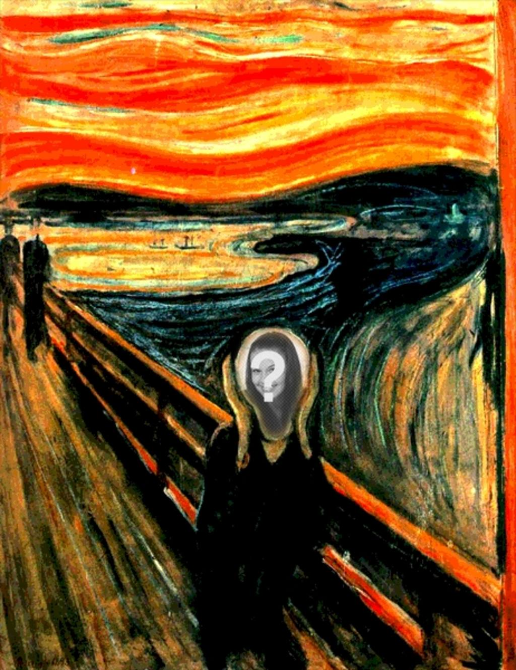 Photomontage du célèbre tableau de Munch Scream