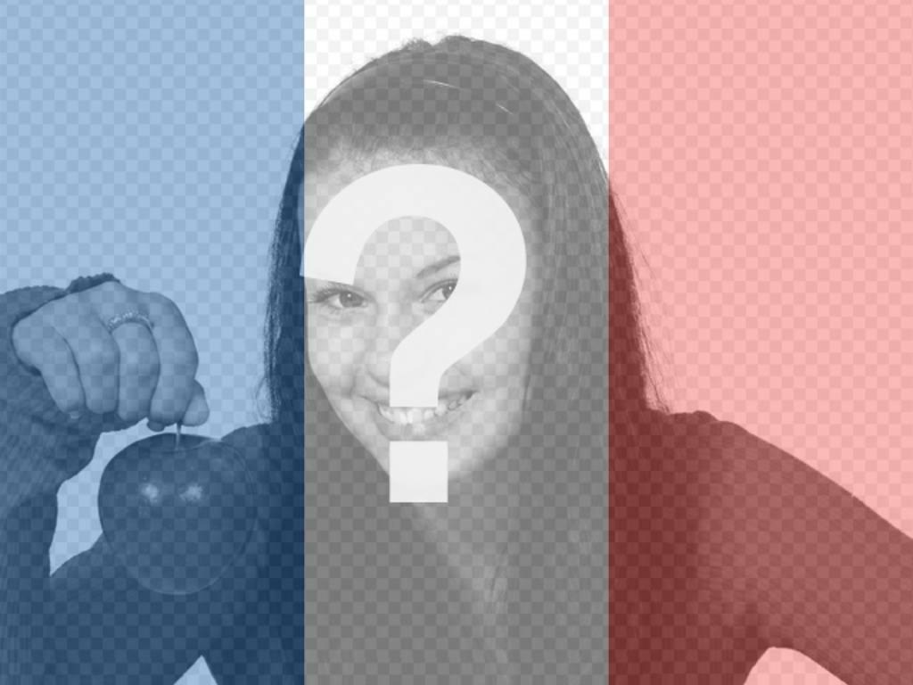 Photomontage de mettre votre photo avec le drapeau de la France à faire en ligne