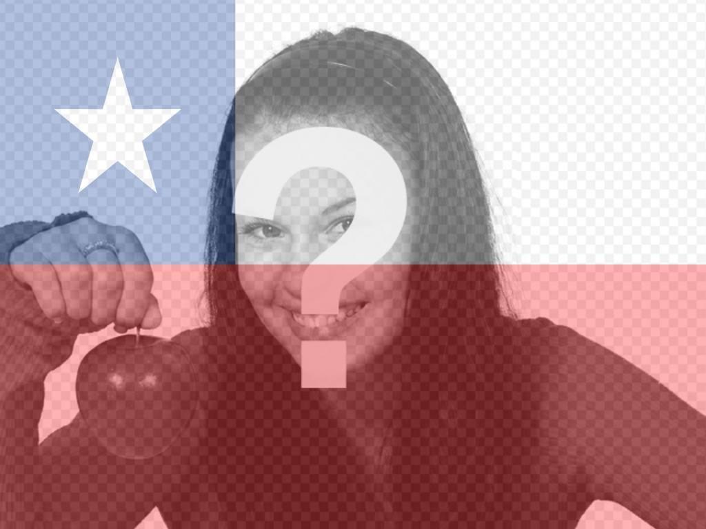 Photomontage de mettre le drapeau du Chili dans votre photo pour votre profil facebook ou twitter