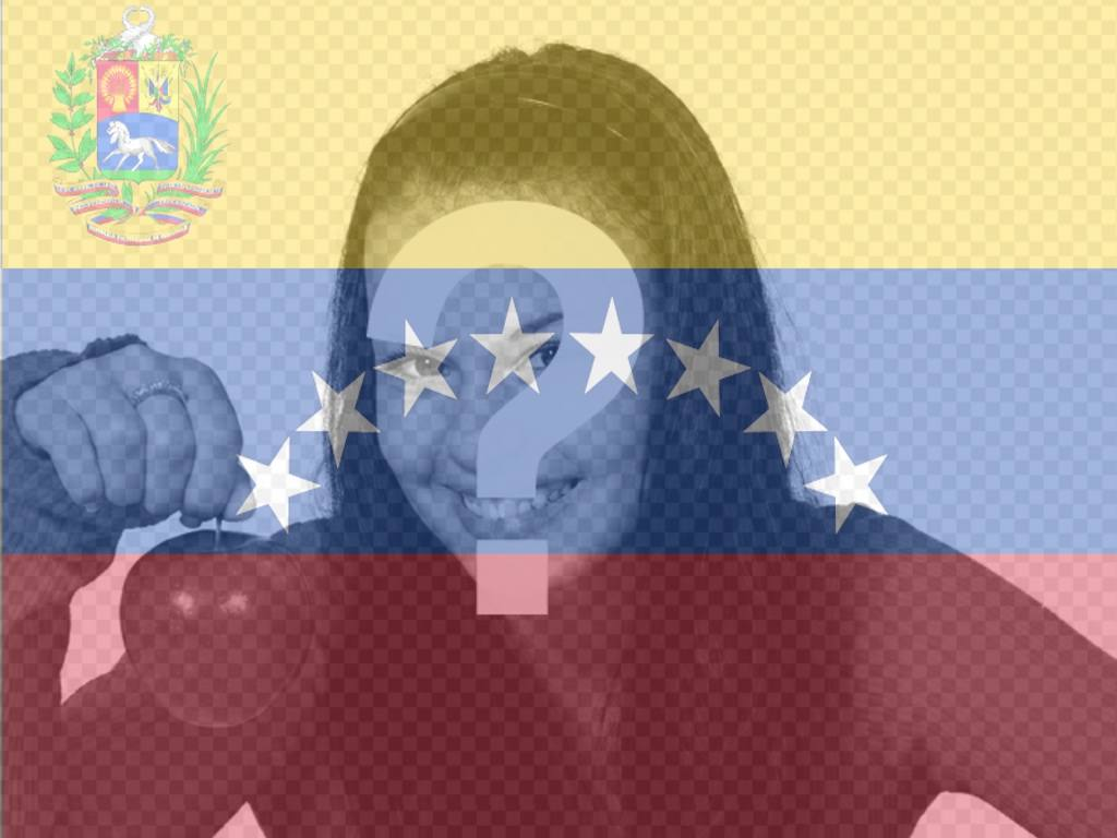 Photomontage avec le drapeau du Venezuela dans le fond