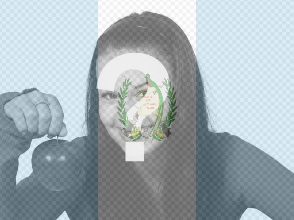 """Photomontage avec le drapeau du Guatemala, où vous pouvez mettre l""""image du drapeau du Guatemala dans votre photo"""