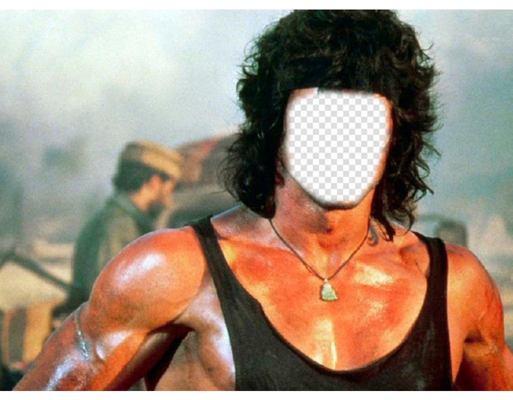 Photomontage que vous pouvez mettre le visage que vous voulez dans le corps de Rambo