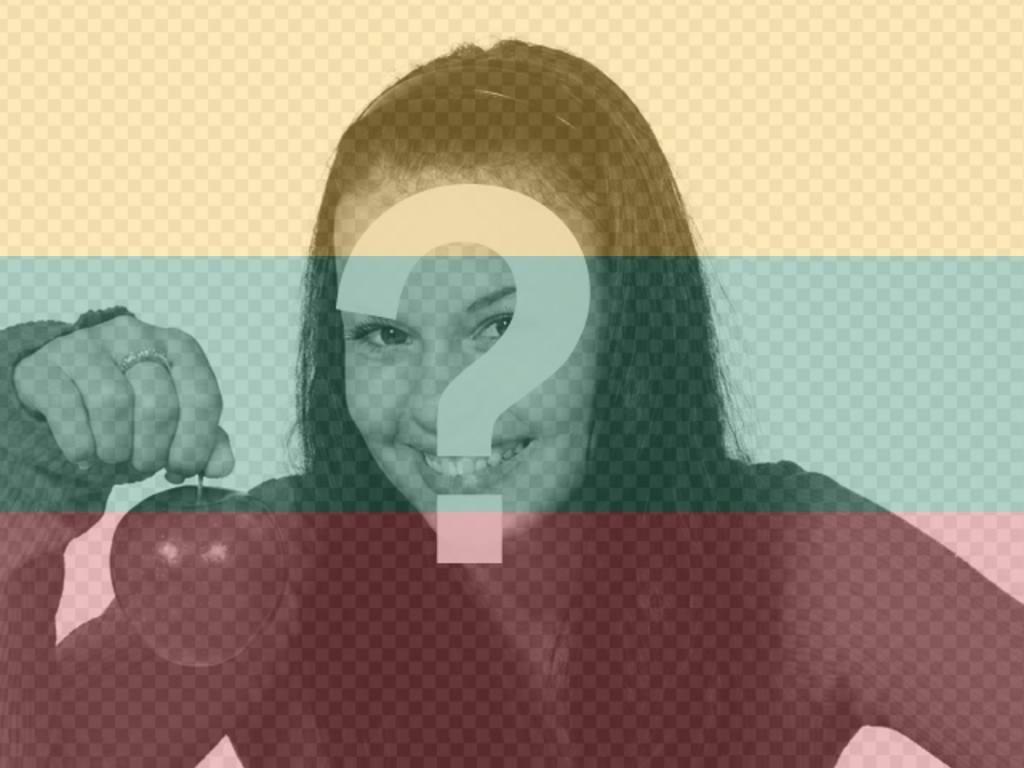 Photomontage de mettre le drapeau de la Lituanie avec votre photo en ligne