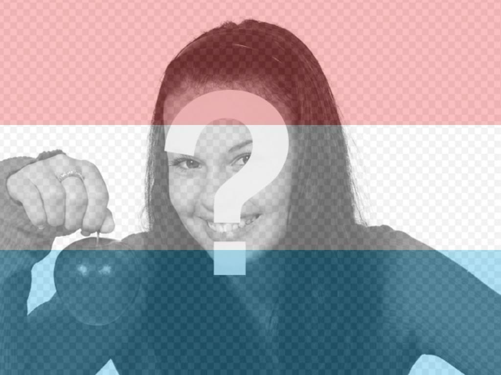 Collage où vous pouvez mettre le drapeau du Luxembourg dans votre photo