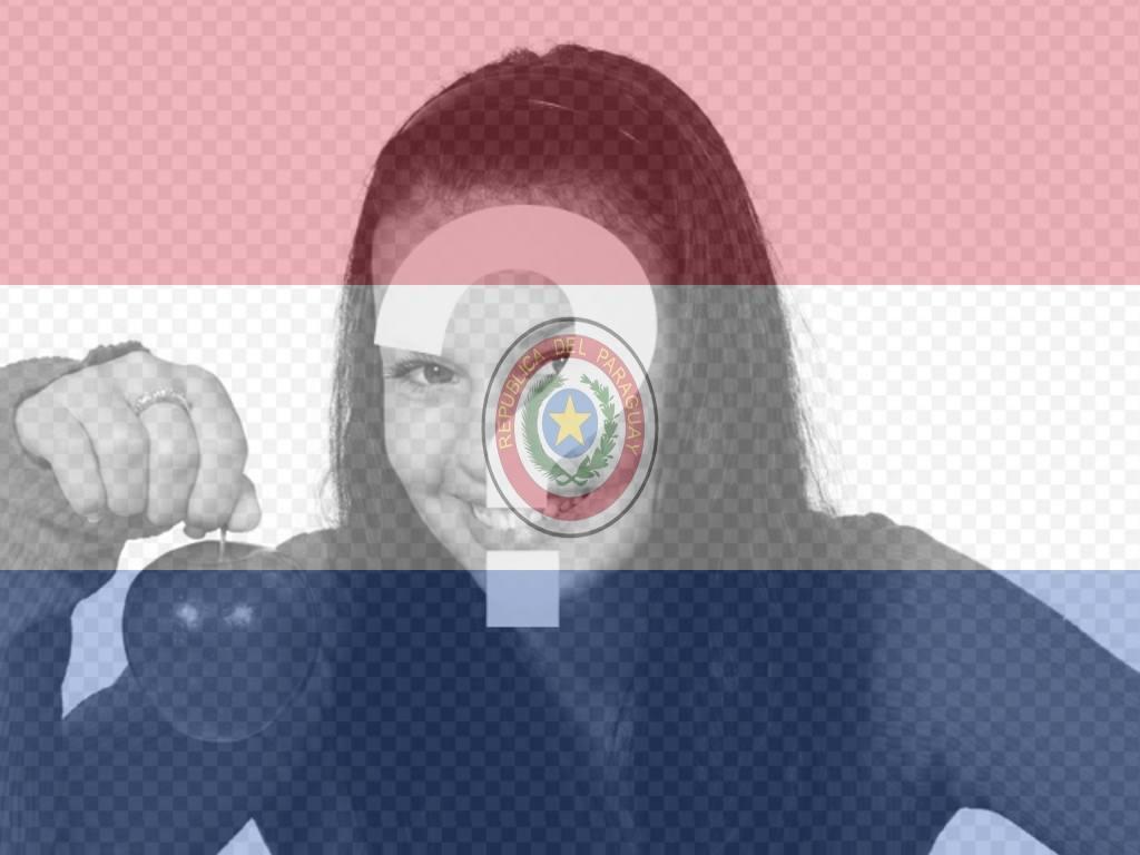 Photomontage en ligne du drapeau du Paraguay avec votre photo