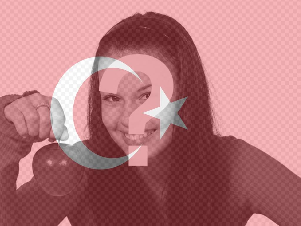 """Montez à mettre le drapeau de la Turquie sur la photo pour l""""utiliser comme photo de profil"""