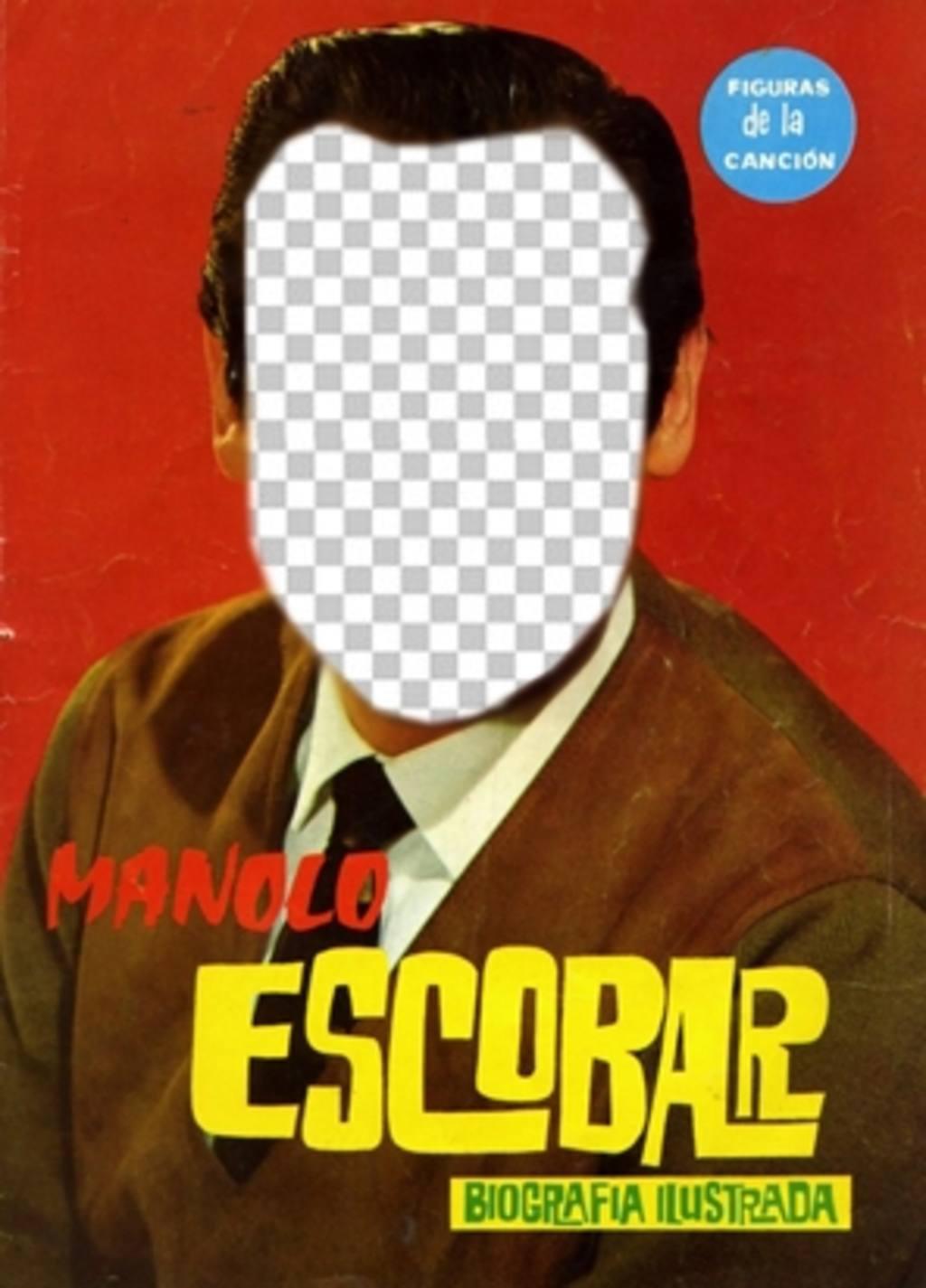 Apparaît comme Manolo Escobar dans ce photomontage de mettre un visage