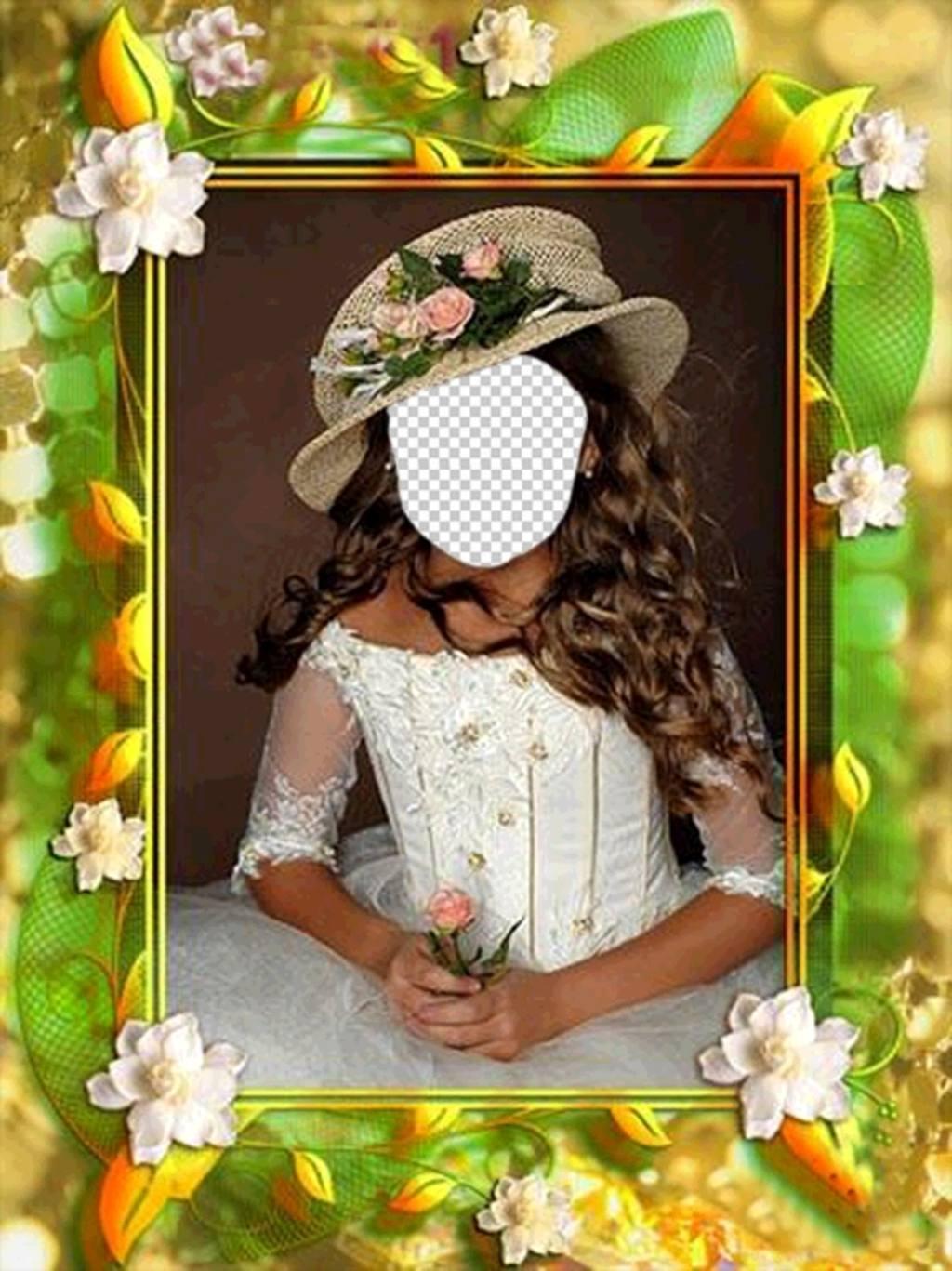 cadre photo originale de mettre votre photo dans une fille avec une robe photoeffets. Black Bedroom Furniture Sets. Home Design Ideas