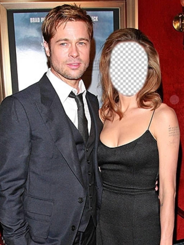 Effet pour modifier avec votre photo et être Angelina Jolie avec Brad Pitt