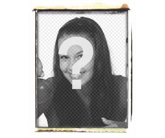 le style cadre photo polaroid effet br l pour mettre votre image photoeffets. Black Bedroom Furniture Sets. Home Design Ideas