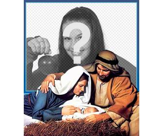 carte noel jesus manger pour telecharger votre photo