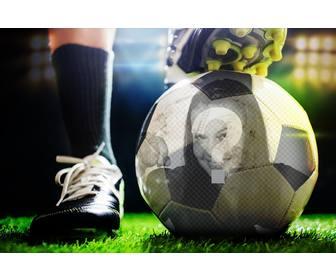photomontage de mettre votre photo sur un ballon de soccer. Black Bedroom Furniture Sets. Home Design Ideas