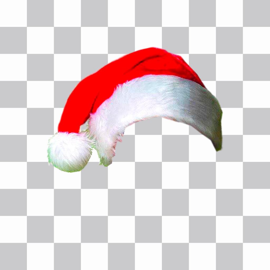 Photomontage pour mettre un chapeau de Noël sur votre photo en ligne