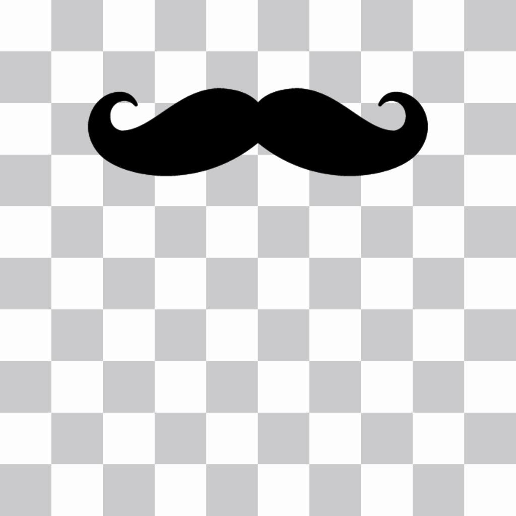 Sticker-autocollant à mettre sur votre photo Hispter dune moustache