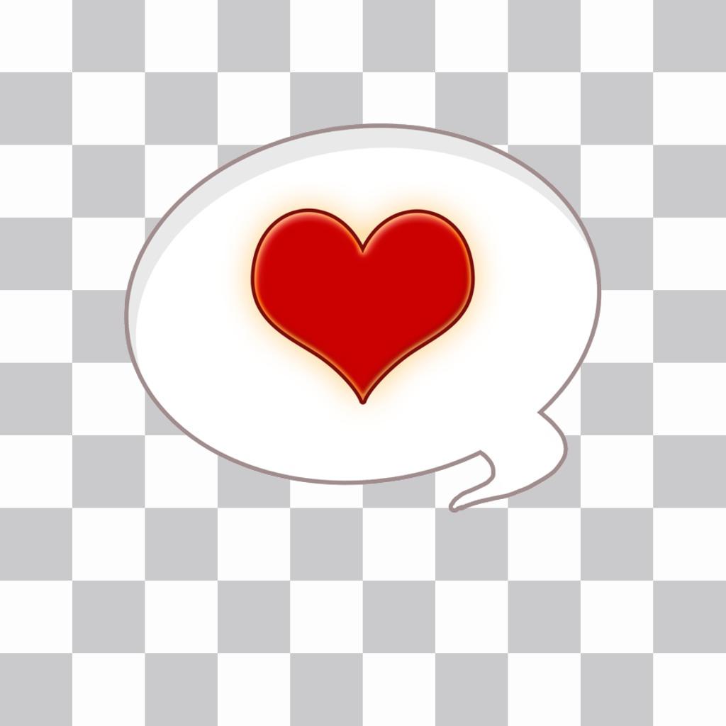 Autocollant de coeur dun comique de sandwich