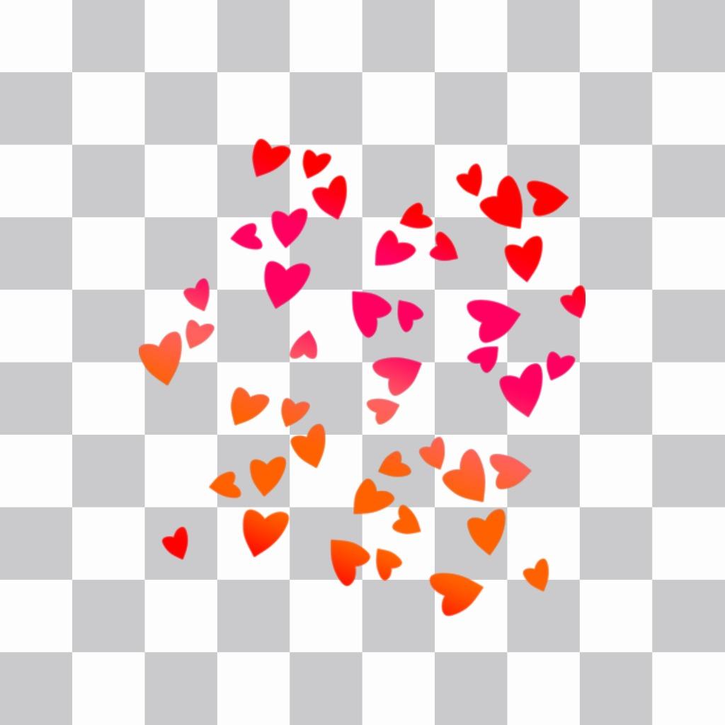 Coeurs colorés pour coller sur vos photos. coeurs autocollant