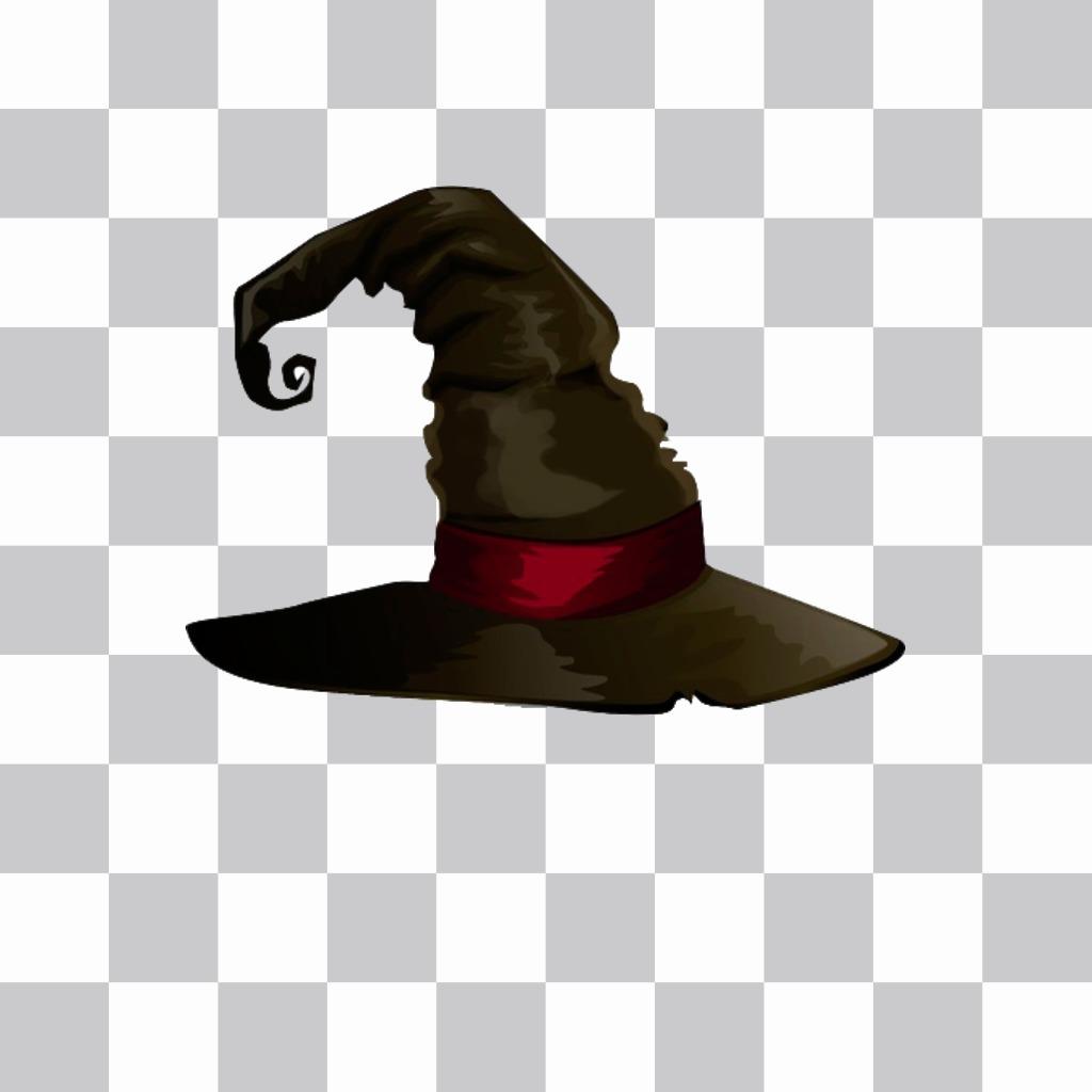 Autocollant de chapeau de sorcière pointu et noir pour vos photos