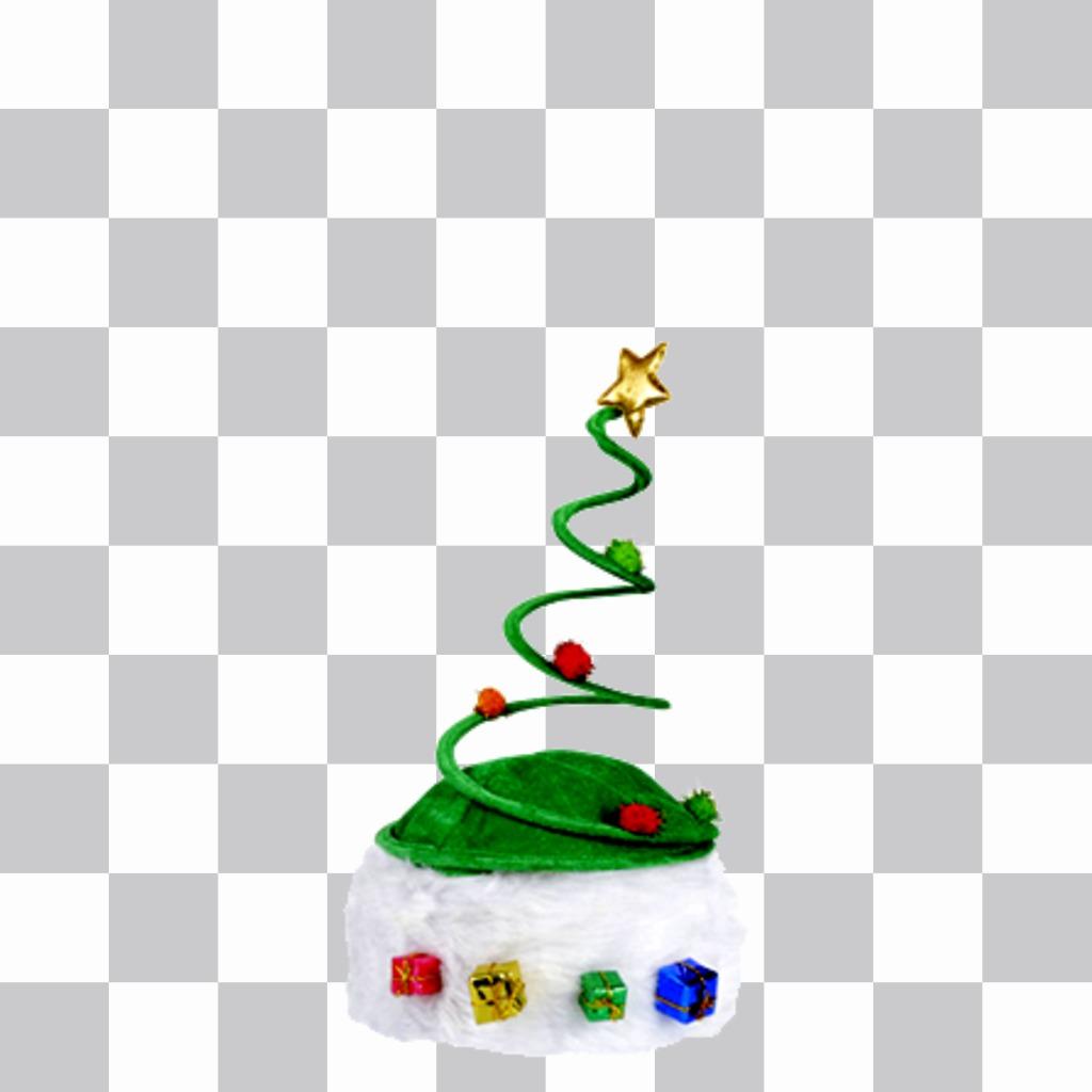 Chapeau de Noël en forme de sapin de Noël pour frapper vos amis