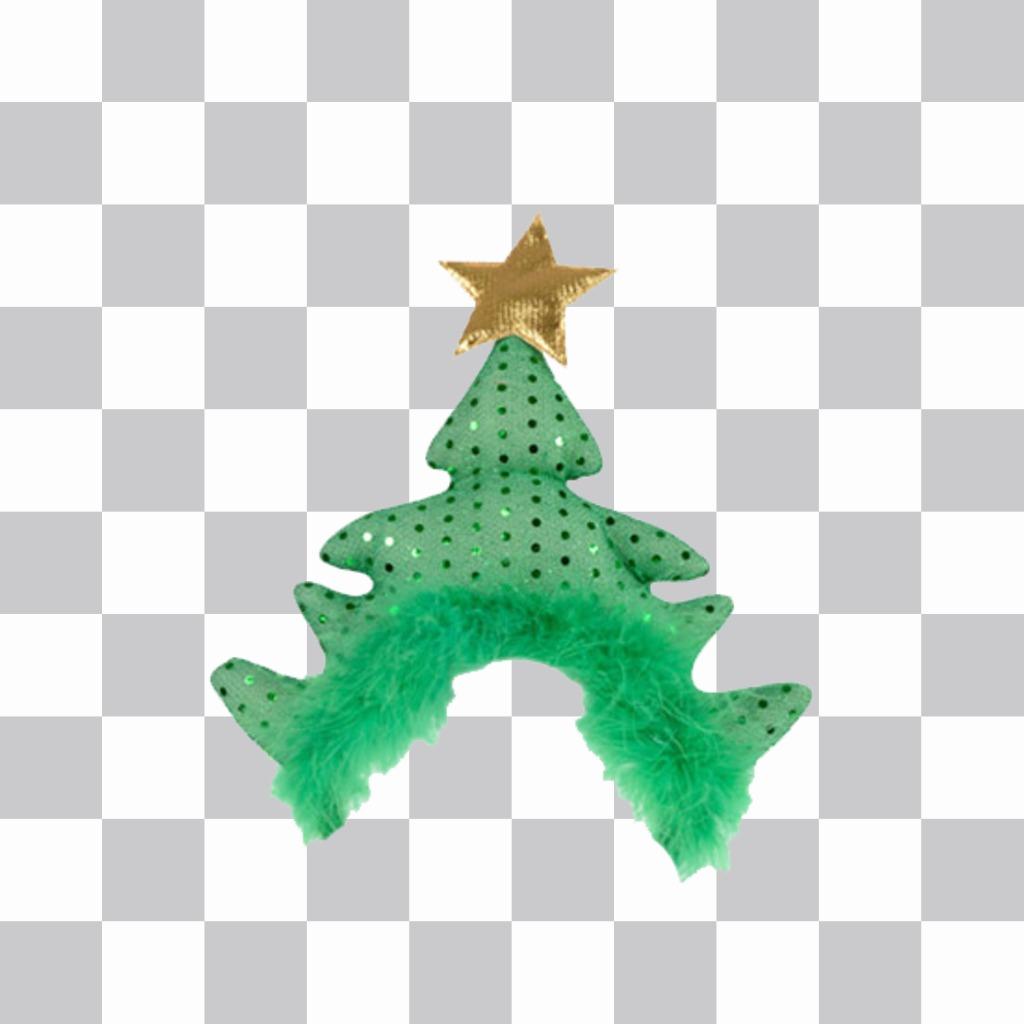 Être habillé de Noël avec ce chapeau darbre pour vos photos pour